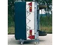 Conway trailer tent side storage bars