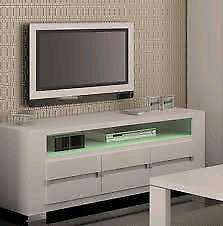 TV stand white gloss (brand new unassembled unboxed)