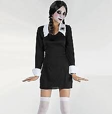 WEDNESDAY ADDAMS FAMILY FANCY DRESS OUTFIT SIZE 10 10 have some tights to go with this