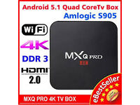 mxq pro 4k ultra hd 64bit android tv box quadcore nt skybox £35 each or 5 for £30 each