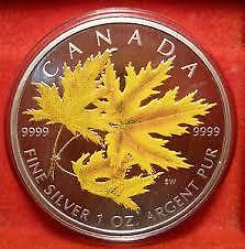 2001-2006 Coloured 1 oz Silver Maple Leaf Collector RCM Coins Edmonton Edmonton Area image 1