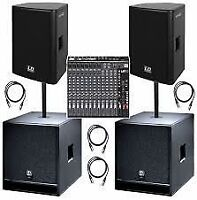 Small P.A Systems, Microphones, LAV Mics, Wireless Mics for Rent