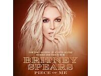 Britney Spears Tickets x4 - Manchester Arena Saturday 18th August 2018