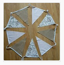 Gorgeous Handmade Bunting 55m Wedding Shabby Chic Hessian Floral