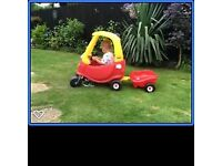 Cozy Coupe & trailer