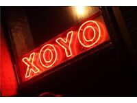Bartenders required at XOYO; competitive package with flexible shiftpattern