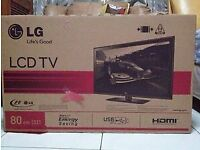 """LG 32"""" Led Full HD 1080p tv Freeview Hdmi usb excellent condition original box"""