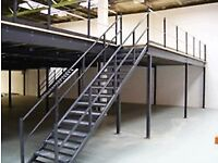 MEZZANINE FLOOR 17M X 10M WITH STAIRS DISMANTLED READY TO GO( STORAGE , PALLET RACKING )
