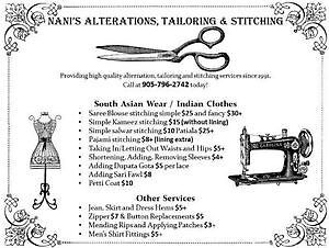 Nani's Stitching, Sewing, Alterations and Tailoring
