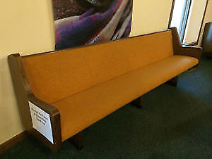 6 Church Pews With Padded Backs & Padded Seats $125 Each