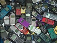 Any RETRO phones! WORKING OR NON WORKING. Brought for cash!! Anything considered. Iphone, Nokia etc