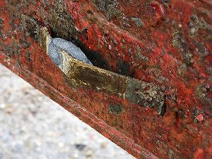 Corroded Zinc Anode