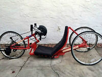 force 2 handcycle red