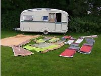 Original large double sided caravan awning. With accessories. Spacemaker/ Dorema?