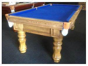 POOL TABLE - BRAND NEW - SOLID OAK - SLATE TOP - SAVE $500++ Palmyra Melville Area Preview