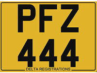 PFZ 444 – Price Includes All DVLA Fees – Cherished Personal Private Registration Number Plate