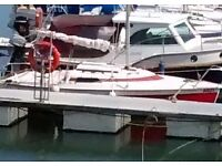18 foot Micro-Challenger trailor sailor, c/w all sails and trailor. Ready to sail away