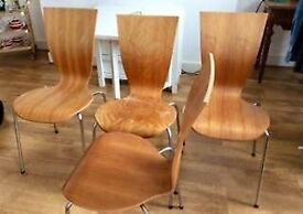 Arne Jacobsen - style chairs (set of 4)