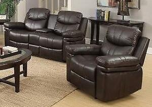 SAVE $1200 -- 2pc Reclining Love Seat with Console and Chair Regular Retail $2199 NOW $999