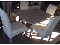 Dining Table with 4 Chairs Plus Matching TV Unit