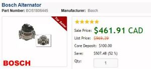 Bosch Alternator - for 2006 audi a4 (new in the box)