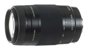 Sony 75-300mm f/4.5-5.6 Lens with UV filter 55mm