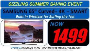 "Samsung 65"" 4K Curved Smart UHD TV 1 Year Warranty. OpenBox Macleod Sale!"