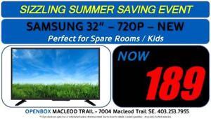 "SAMSUNG 32"" 720P SMART LED TV. BRAND NEW IN BOX 1 Year Warranty. OpenBox Macleod Sale!"