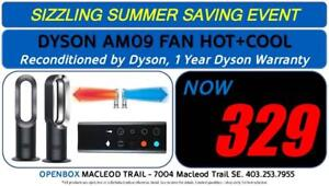 DYSON AM09 Bladeless Fan HOT + COOL  With 1 year Warranty. Reconditioned By Dyson.