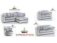 ORIGINAL DYLAN CHICAGO CRUSHED VELVET SOFA RANGE - ✔ Foam Seats✔ Quick Delivery £210.00