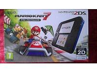 Nintendo 2DS Mario Kart 7 Pre-installed Console Fully Working