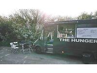 Burger van and working business