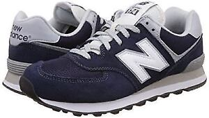 New Balance Men's 574 Classic NAVY/WHT SNEAKERS Size 9.5