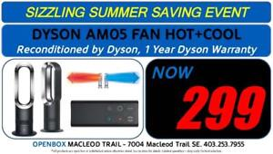 DYSON AM05 Bladeless Fan HOT + COOL  With 1 year Warranty. Reconditioned By Dyson.