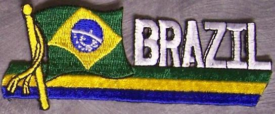 Embroidered International Patch National Flag of Brazil NEW streamer