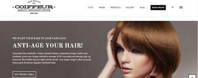 Bespoke Custom Hair Salon Beauty Salon Website Web Design Service