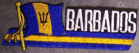 Embroidered International Patch National Flag of Barbados NEW streamer