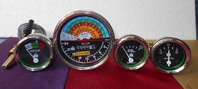 Ih Farmall Gauge Set 300 350 Gas Utility Tachometertemperatureoil Ampere