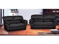 BRAND NEW CORNER SOFA OR 3 AND 2 SEATERS, BLACK GREY BROWN SILVER JUMBO CORD FABRIC & CRUSHED VELEVT