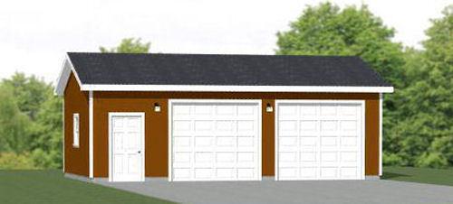 30x20 2-Car Garage -- 600 sq ft -- PDF Garage Plan -- 9ft Walls -- Model 1D