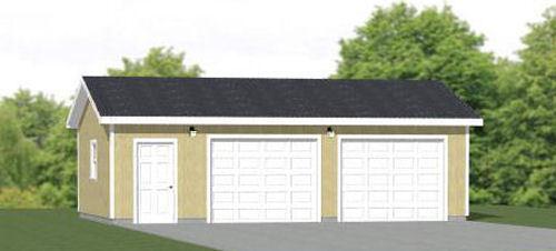 30x20 2-Car Garage -- 600 sq ft -- PDF Garage Plan -- 8ft Walls -- Model 1E