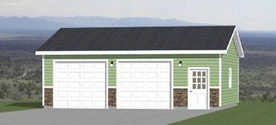 30x26 2-Car Garage -- 780 sqft -- PDF Floor Plan -- Model 1