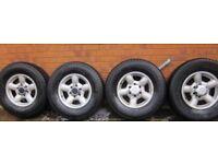 Isuzu Alloy wheels and tyres x 2 sets