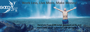 Want to make $100 by giving away free $200 hotel discount cards