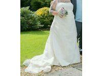 Ivory Wedding Dress 20/22/24/26 Plus Size - Corset Back - Hilary Morgan