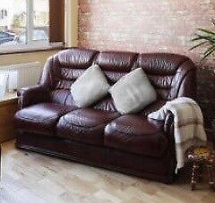 3 Seater Burgundy Sofa