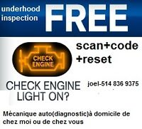 'Check Engine' est allumé? avec Battery load test..$15