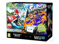 Wii u with mariocart 8 and splatoon