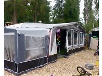 Camptech Atlantis DL caravan awning size 950-975 with tall annex