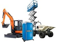 1.5t Excavators, Dumpers, Scissors, Booms, Plant and tools for Hire! Everything in one place!